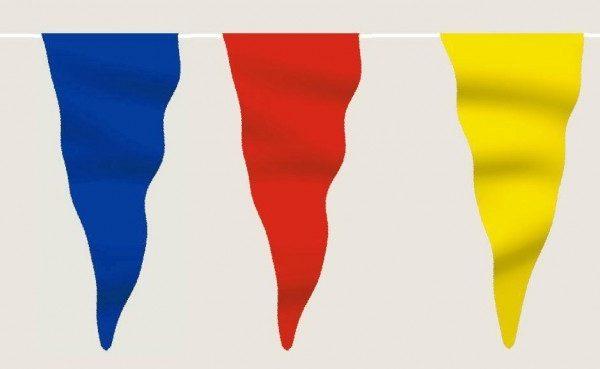 wimpelkette bunt gr n blau rot gelb wei aus stoff meterware. Black Bedroom Furniture Sets. Home Design Ideas