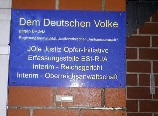 Reichsbürger-Schild