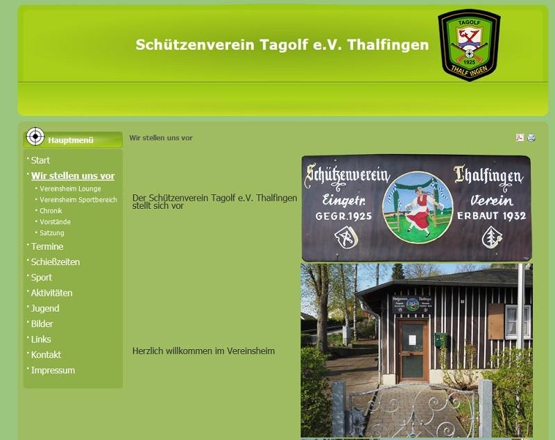 Schützenverein Tagolf e.V. Thalfingen (Screenshot tagolf-thalfingen.de)
