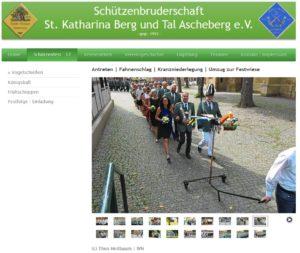 Donald Trump im Visier eines Schützenvereins (Screenshot: but-ascheberg.de)
