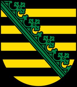 Landeswappen Sachsen (Wikipedia)